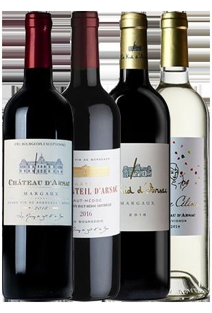 bouteilles vins arsac